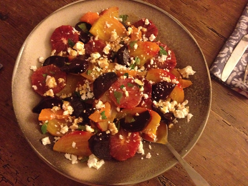 Beets, Blood Oranges and Feta